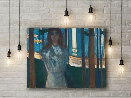 Edvard Munch: The Voice, Summer Night. Fine Art Canvas.
